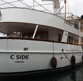 Motor yacht c-side